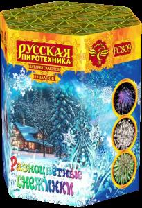 Средний фейерверк «Разноцветные снежинки»
